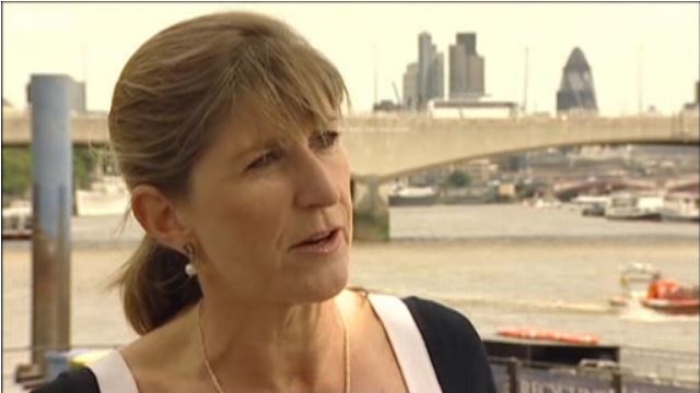 Still from video of Niki Beattie talking to BBC News.